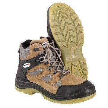 Chaussures de sécurité REDSTONE, coloris camel et gris, T44