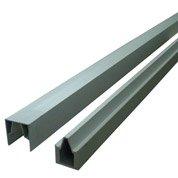 Profil de finition rainuré gris clair en aluminium