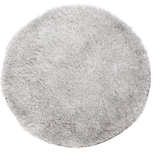 Tapis gris shaggy Love Diam 1200 mm