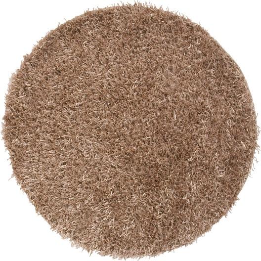tapis beige shaggy lilou mm leroy merlin. Black Bedroom Furniture Sets. Home Design Ideas