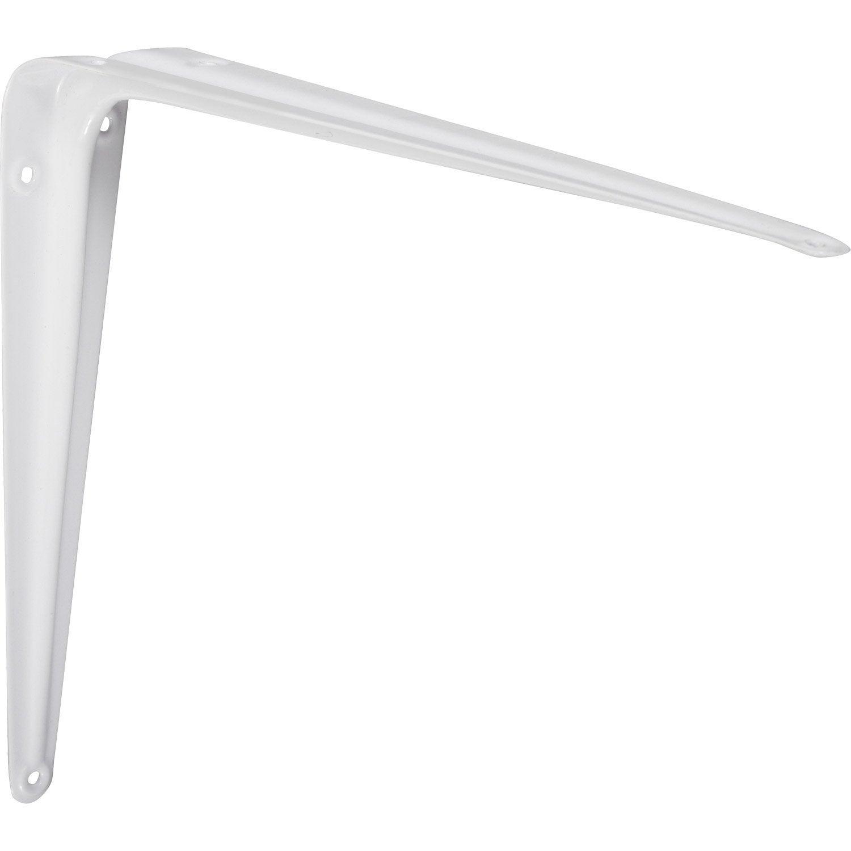 equerre emboutie acier epoxy blanc x cm leroy merlin. Black Bedroom Furniture Sets. Home Design Ideas