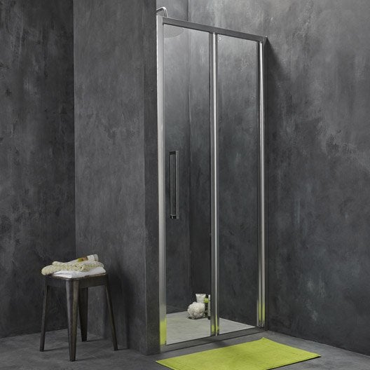 Porte de douche pliante sensea purity 3 verre transparent - Leroy merlin porte de douche ...