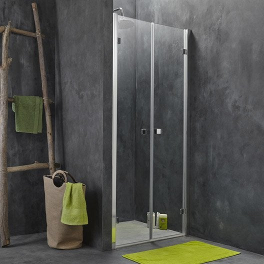 Porte de douche battante premium2 leroy merlin - Porte battante de douche ...