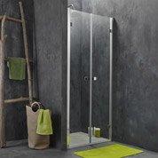 Porte de douche battante 87.5/90.1 cm profilé chromé, Premium2