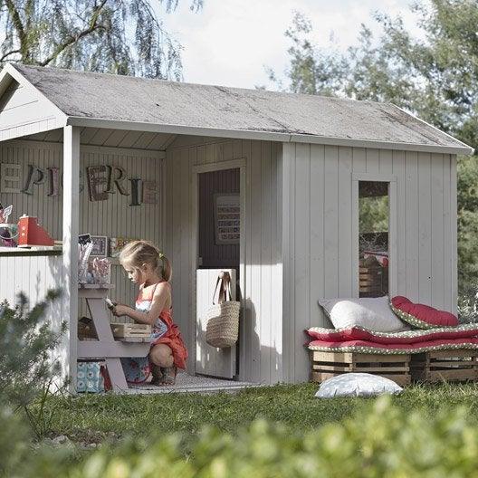 Maisonnette chalet maison cabane enfant leroy merlin - Leroy merlin cabane enfant ...