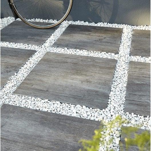 Dalle siena gr s en c rame pleine masse bois gris x cm x ep 20 mm - Dalle beton exterieur ...