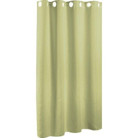 rideau de douche en tissu vert botanique n 3 x cm abeille sensea leroy merlin. Black Bedroom Furniture Sets. Home Design Ideas
