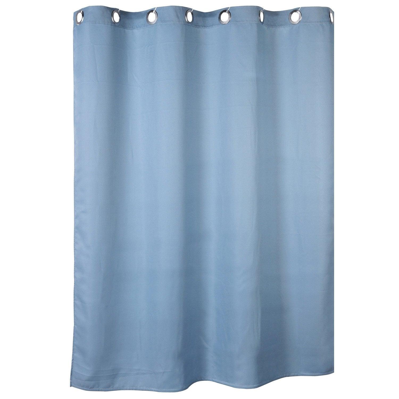 Rideau De Douche En Textile Bleu Baltique N 3 L 180 X H 200 Cm