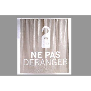 Rideau de douche en plastique x cm gris galet - Accessoires de douche leroy merlin ...