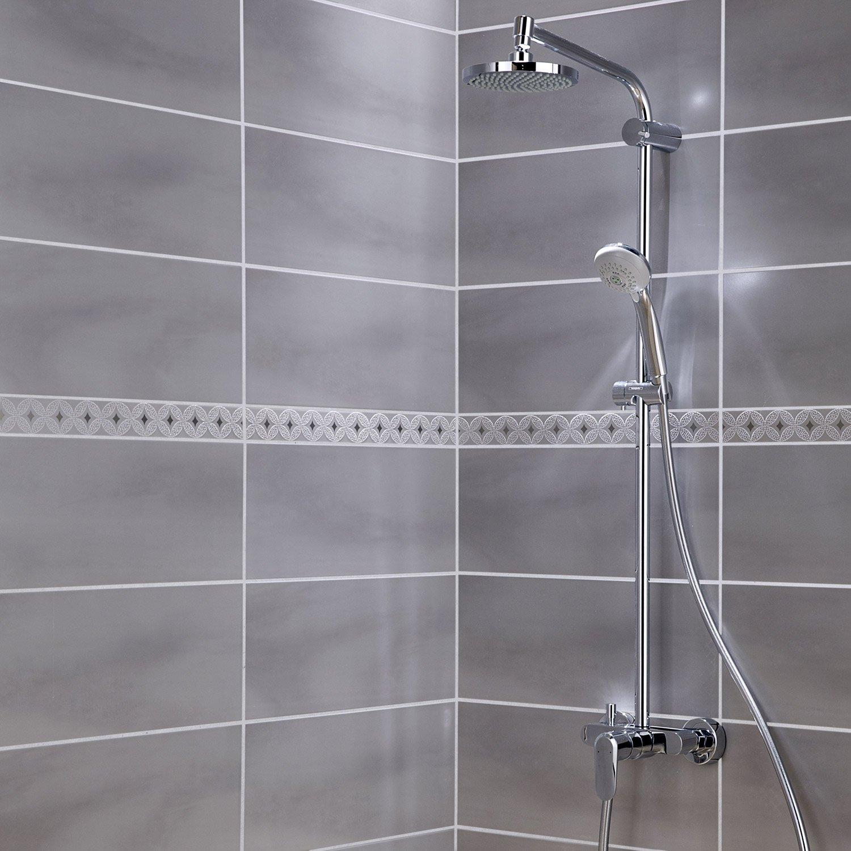 faence mur gris perle brooklyn l20 x l50 cm