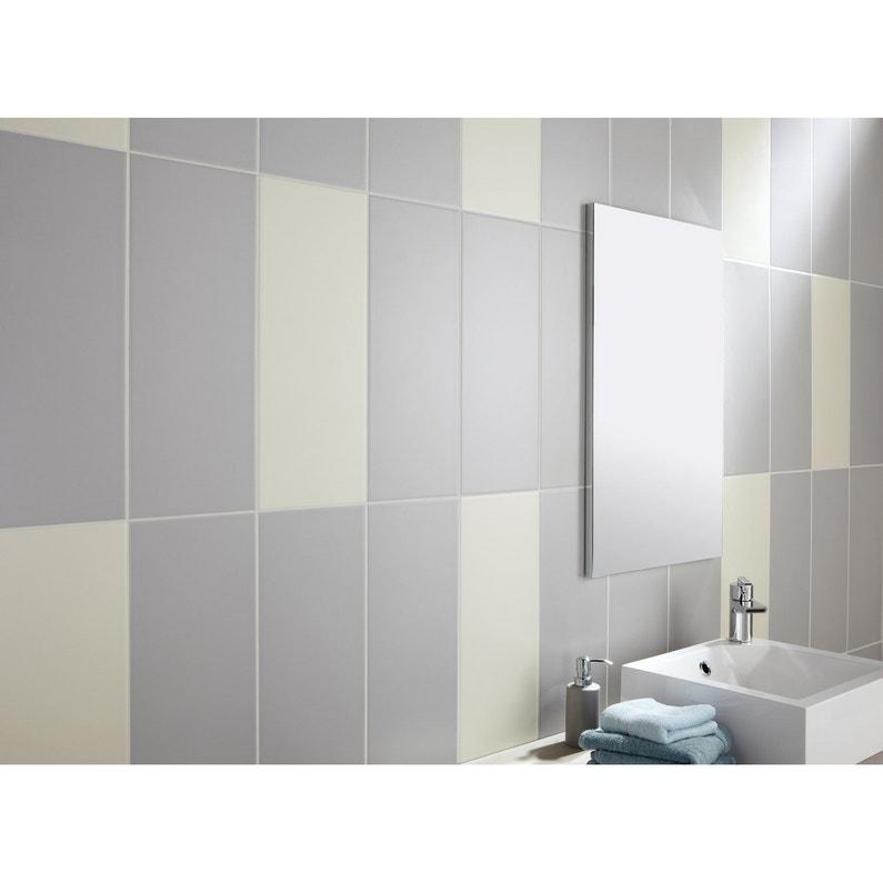 Faïence mur uni gris galet n°5 mat l.20 x L.50.2 cm, Loft