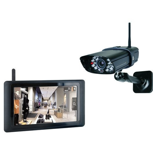 kit de vid osurveillance connect int rieur ext rieur smartwares cs89t leroy merlin. Black Bedroom Furniture Sets. Home Design Ideas