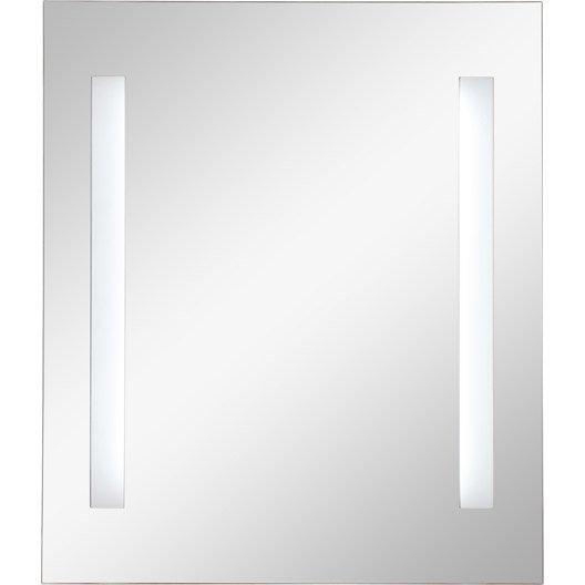 Miroir lumineux eclairage int gr x cm sensea for Miroir hauteur 90
