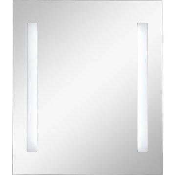 Miroir lumineux eclairage intégré, l.90 x H.70 cm, SENSEA Ayo