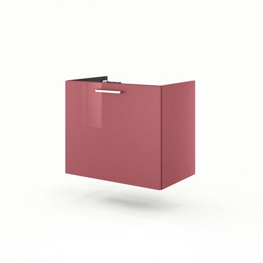 meuble sous vasque x x cm rouge neo line leroy merlin. Black Bedroom Furniture Sets. Home Design Ideas