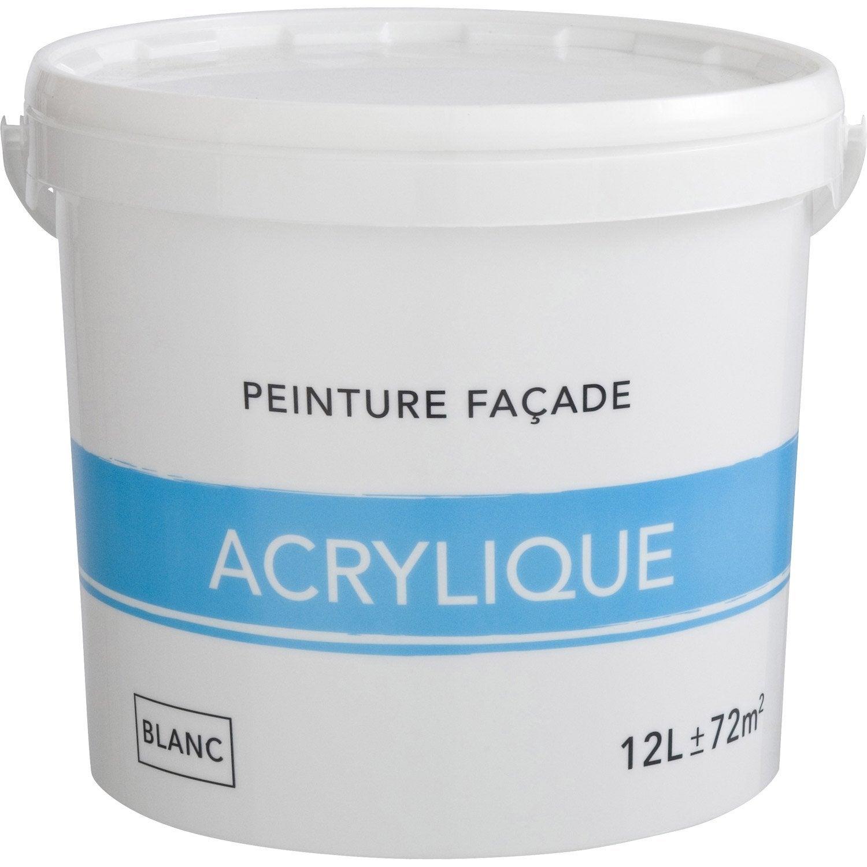 peinture façade acrylique, blanc, 12 l | leroy merlin