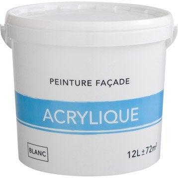 Peinture façade Acrylique, blanc, 12 l