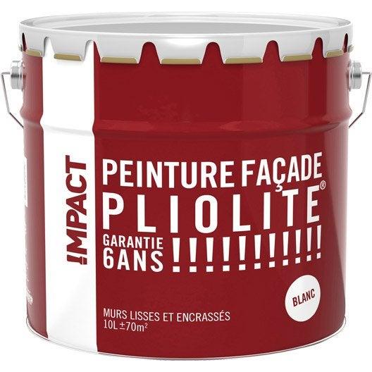 Peinture façade Pliolite IMPACT, blanc, 10 l