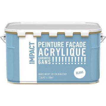 Peinture façade Acrylique IMPACT, blanc, 2.5 l