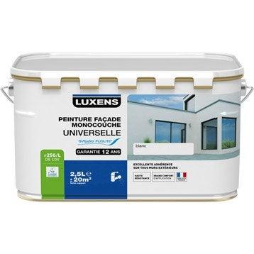 Peinture façade Universelle LUXENS, blanc, 2.5 l
