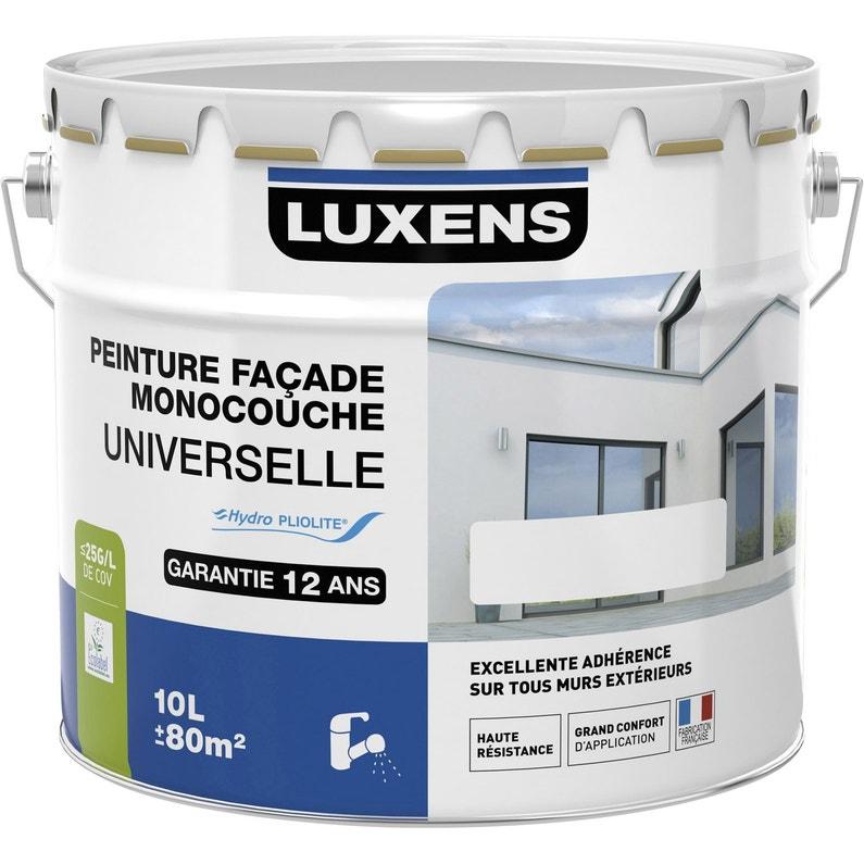 Peinture Façade Universelle Luxens Blanc 10 L