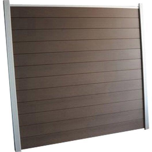 Lame en composite à emboîter Kyoto brun clair, L.176 x H.15 cm x Ep.21 mm
