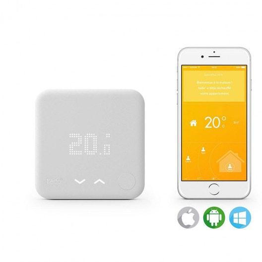 thermostat connect et intelligent filaire ou sans fil en option tado chauffage leroy merlin. Black Bedroom Furniture Sets. Home Design Ideas
