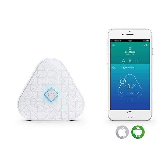 Thermostat connect et intelligent sans fil momit momit pod leroy merlin - Objet connecte sans fil ...