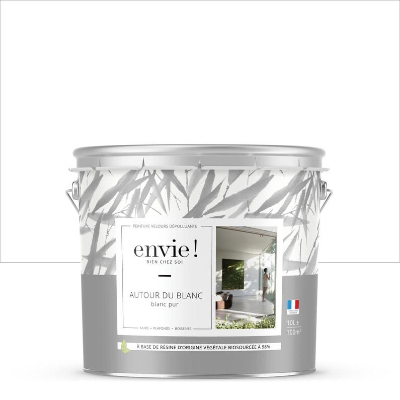 Peinture Envie Mur Plafond Et Boiserie Interieur Blanc Velours 10 L Leroy Merlin