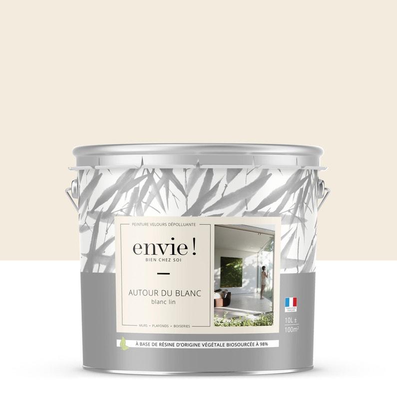 Peinture Envie Mur Plafond Et Boiserie Blanc Lin Velours 10 L