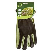 Gants de jardinage en cuir GEOLIA vert et marron, taille 9 / L