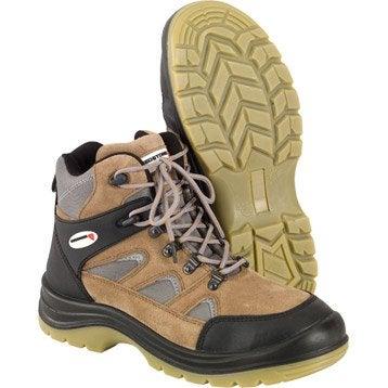 Chaussures de sécurité REDSTONE, coloris camel et gris, T40