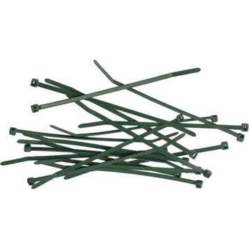 50 attaches vertes pour canisse, 3.5 x 15 cm