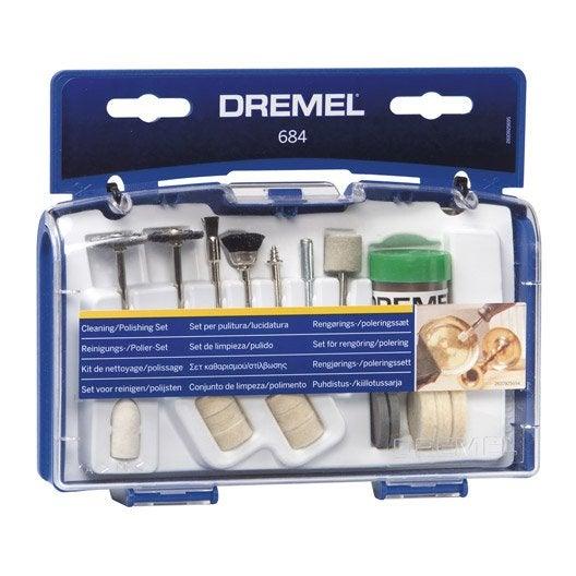 Kit de 20 accessoires pour nettoyer et polir, DREMEL