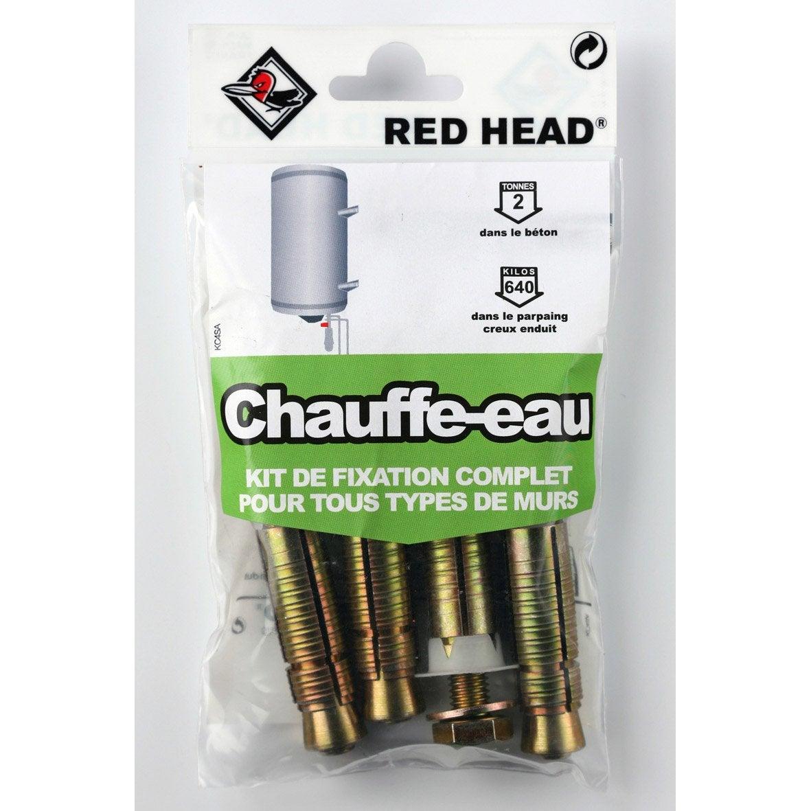 Kit Chevilles Expansion Chauffe Eau Red Head Diam 16 X L 65 Mm  # Cheville Pour Brique Platriere