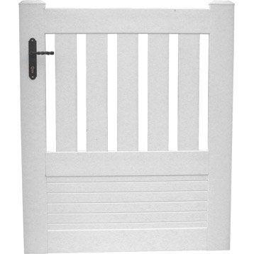 Portillon bois alu fer portail portillon et for Portillon de jardin blanc