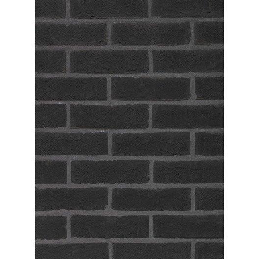 plaquette de parement noir terre cuite terca ombra. Black Bedroom Furniture Sets. Home Design Ideas