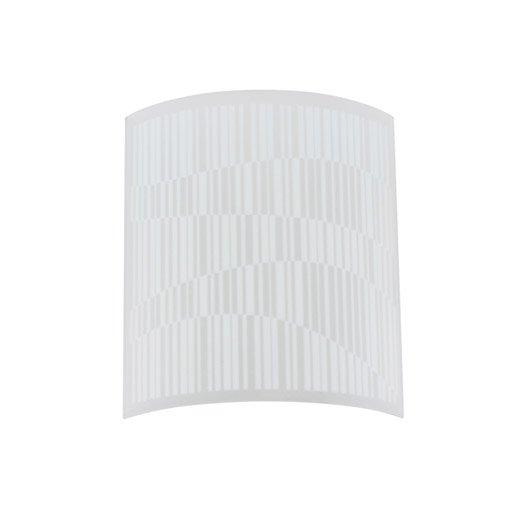 verre pour applique composer vao blanc inspire leroy merlin. Black Bedroom Furniture Sets. Home Design Ideas