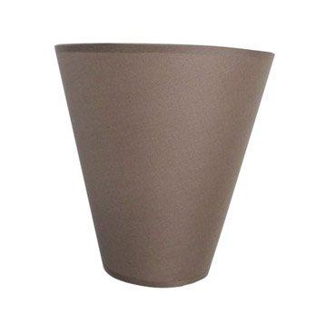 Applique Luna, 1 x 60 W, coton brun taupe n°3, INSPIRE