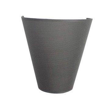 Applique Luna, 1 x 60 W, coton gris galet n°3, INSPIRE