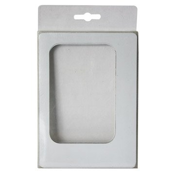 Lot de 5 magnets Cadre l, blanc l.11.5 x H.16 cm