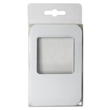 Lot de 5 magnets Cadre m, blanc l.8 x H.11.8 cm