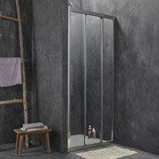 Porte de douche coulissante 87.5/90.5 cm profilé chromé, Purity3