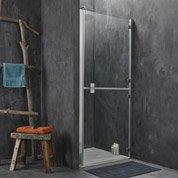 Porte de douche pivotante 88/90 cm profilé chromé, Double premium2