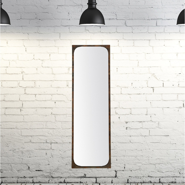 Miroir Industriel Noir L 36 X H 136 Cm Leroy Merlin