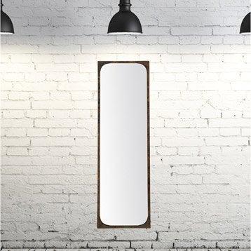 Miroir Industriel, noir, l.36 x H.136 cm