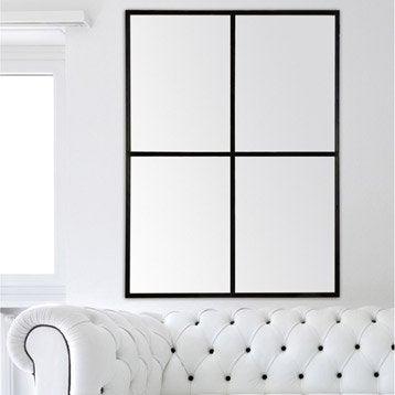 Miroir fen tre noir 90x120 cm for Miroir 70x170