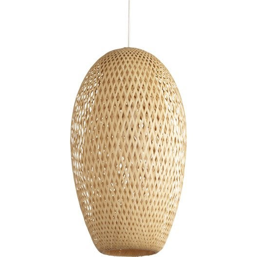 suspension nature nagai bambou naturel 1 x 60 w inspire leroy merlin. Black Bedroom Furniture Sets. Home Design Ideas