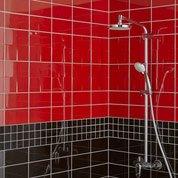 Faïence mur rouge rouge, Astuce l.10 x L.20 cm