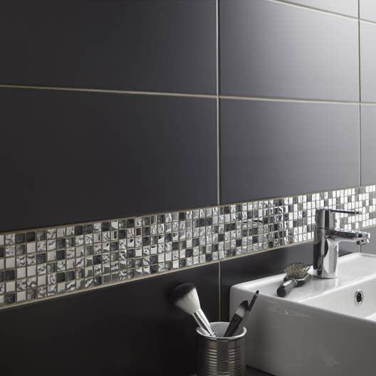 Faïence mur noir noir n°0, Loft l.20 x L.50.2 cm | Leroy Merlin